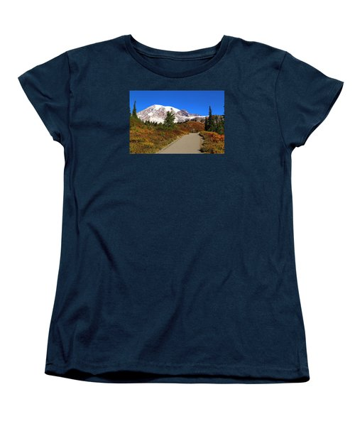Women's T-Shirt (Standard Cut) featuring the photograph Trail To Myrtle Falls by Lynn Hopwood