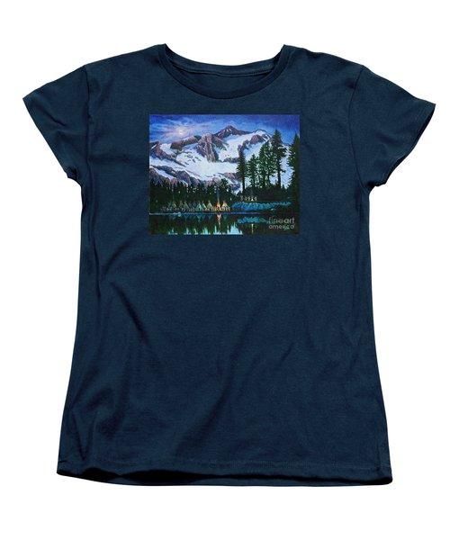 Trails West II Women's T-Shirt (Standard Cut) by Michael Frank