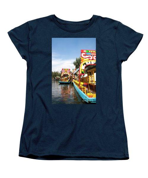 Trajineras Women's T-Shirt (Standard Cut) by Ana Mireles