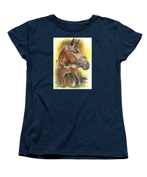 Women's T-Shirt (Standard Cut) featuring the mixed media Trakehner by Barbara Keith