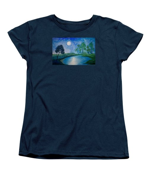 Tranquil Women's T-Shirt (Standard Cut) by Adria Trail