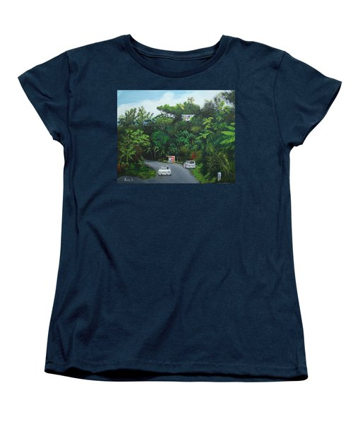 Traveling In Adjuntas Mountains Women's T-Shirt (Standard Cut) by Luis F Rodriguez