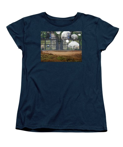 Travels With Jellyfish Women's T-Shirt (Standard Cut) by Joan Ladendorf