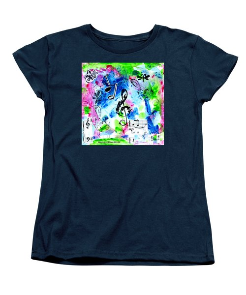 Women's T-Shirt (Standard Cut) featuring the mixed media Treble Mp by Genevieve Esson