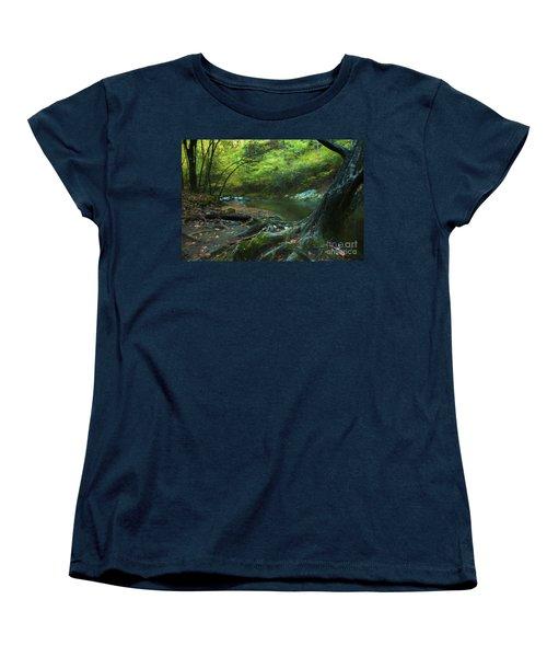Tree By Water Women's T-Shirt (Standard Cut) by Lena Auxier