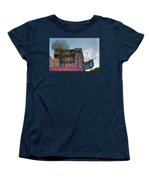 Women's T-Shirt (Standard Cut) featuring the photograph Tree In Building Over La Floridita Havana Cuba by Charles Harden