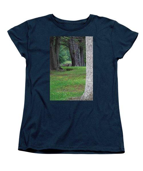 Tree Line Women's T-Shirt (Standard Cut) by Eric Liller