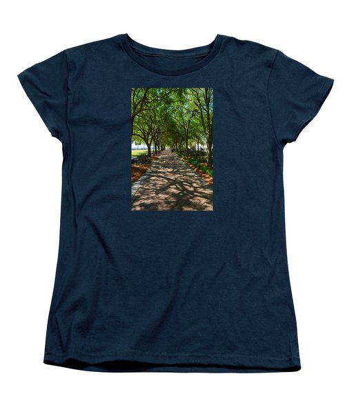 Tree Lined Path Women's T-Shirt (Standard Cut) by Debra Martz