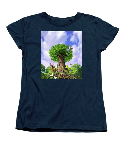 Tree Of Life Women's T-Shirt (Standard Cut) by Jerry LoFaro