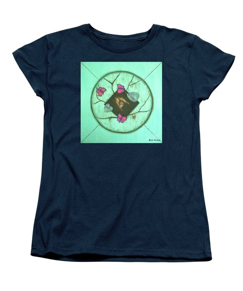 Women's T-Shirt (Standard Cut) featuring the painting Tree Of Life by Mini Arora