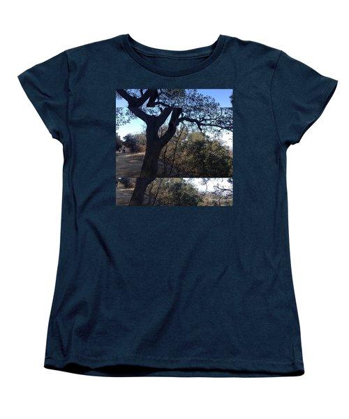 Tree Silhouette Collage Women's T-Shirt (Standard Cut) by Nora Boghossian