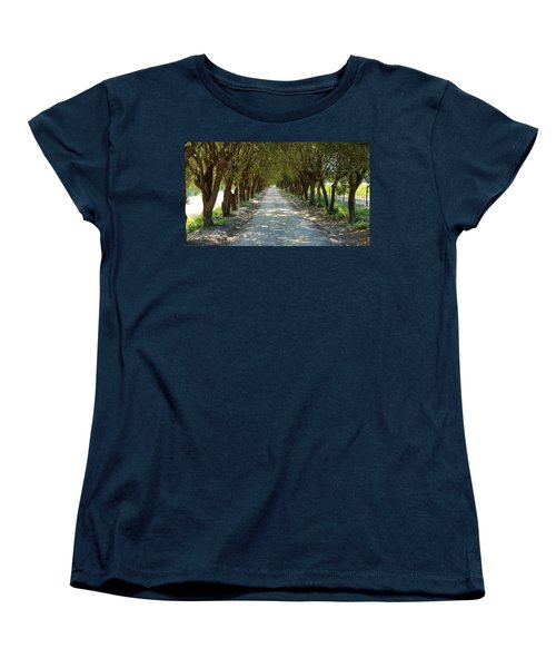 Women's T-Shirt (Standard Cut) featuring the photograph Tree Tunnel by Valentino Visentini