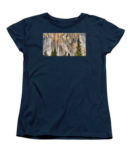 Trees And Granite Women's T-Shirt (Standard Cut) by Josephine Buschman