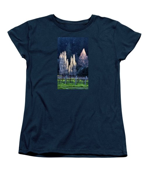 Trees In Fall Napa Valley Women's T-Shirt (Standard Cut) by Josephine Buschman