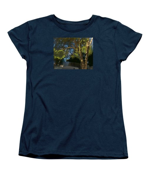 Women's T-Shirt (Standard Cut) featuring the digital art Trees In Park by Walter Chamberlain