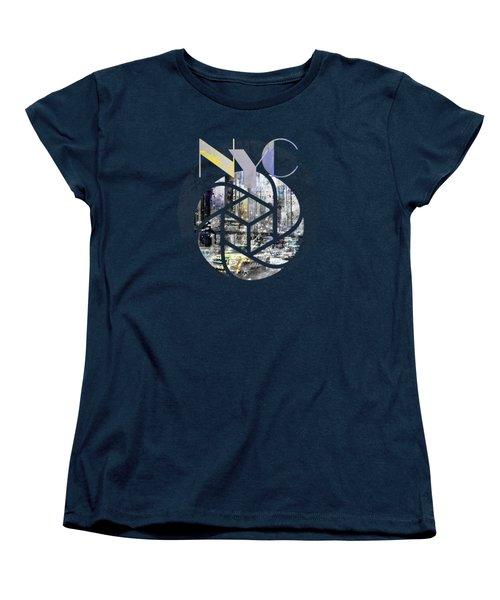 Trendy Design New York City Geometric Mix No 4 Women's T-Shirt (Standard Cut) by Melanie Viola