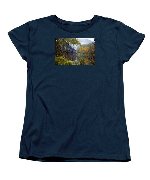 Trestle In Autumn Women's T-Shirt (Standard Cut) by Hugh Smith