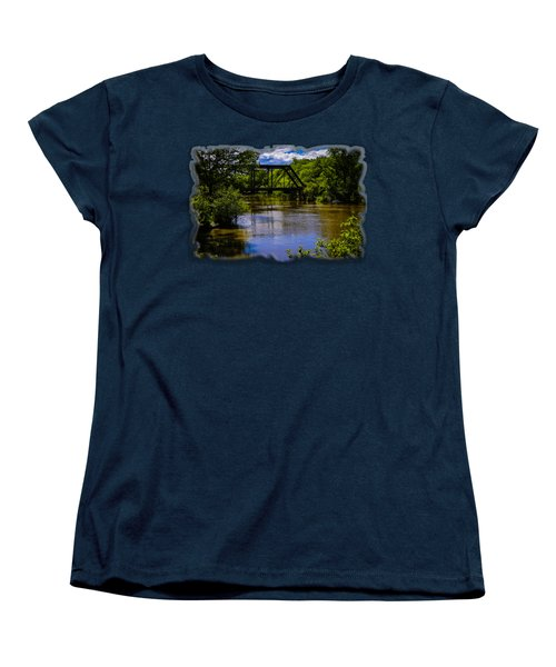Trestle Over River Women's T-Shirt (Standard Cut) by Mark Myhaver