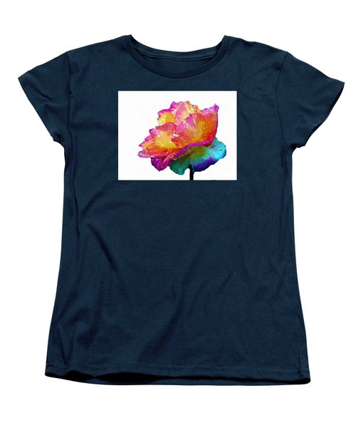 Women's T-Shirt (Standard Cut) featuring the photograph Tri Color Rose by Joseph Frank Baraba