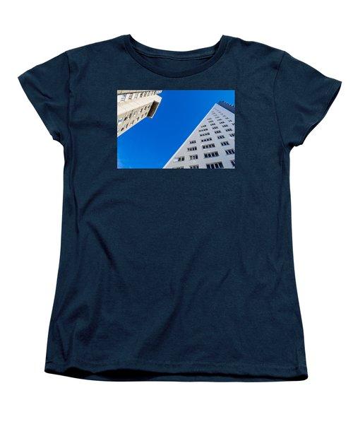 Women's T-Shirt (Standard Cut) featuring the photograph Triangle Modern Building by John Williams
