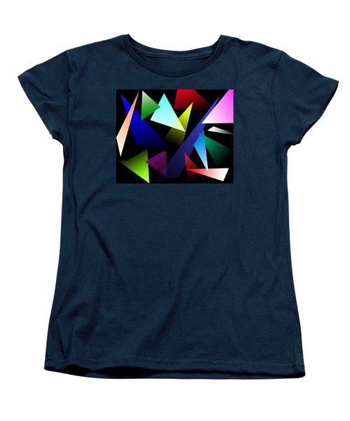 Triangles Women's T-Shirt (Standard Cut) by David Stasiak