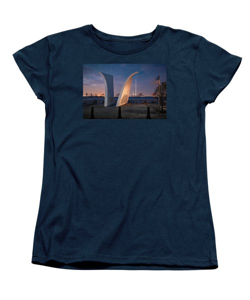 Women's T-Shirt (Standard Cut) featuring the photograph Tribute In Light by Eduard Moldoveanu