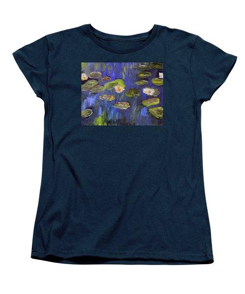 Tribute To Monet Women's T-Shirt (Standard Cut) by Michael Helfen