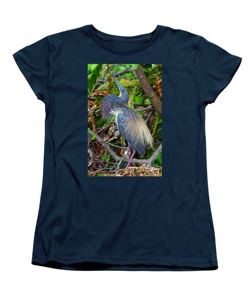 Tricolor Breeding Display Women's T-Shirt (Standard Cut) by Larry Nieland