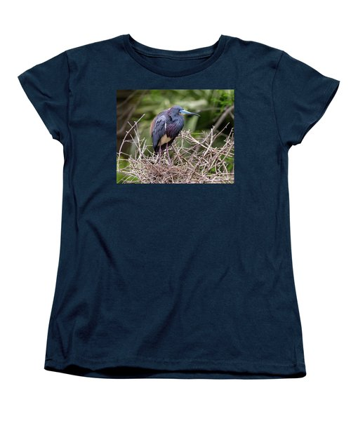 Tricolored Heron Women's T-Shirt (Standard Cut) by Ursula Lawrence