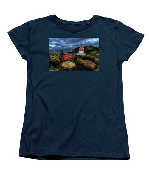 Trinidad Memorial Lighthouse Women's T-Shirt (Standard Cut) by James Eddy