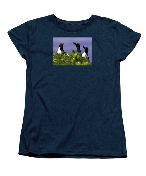 Trio Women's T-Shirt (Standard Cut) by Marie Elise Mathieu