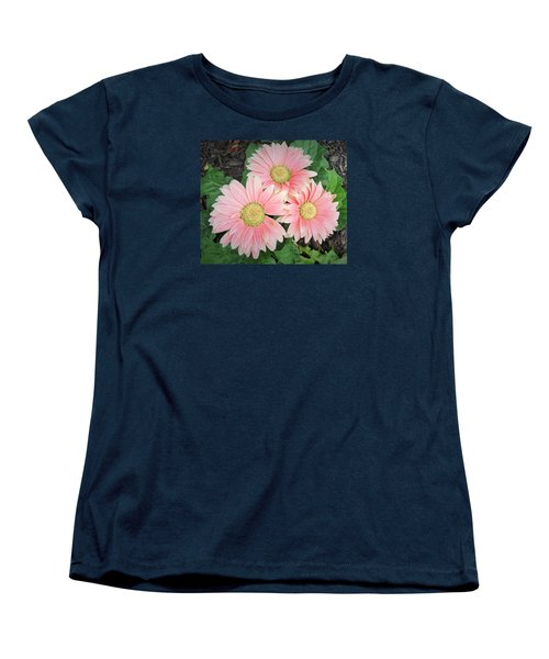 Trio Of Gerbers Women's T-Shirt (Standard Cut) by Jeanette Oberholtzer