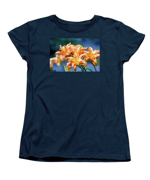Women's T-Shirt (Standard Cut) featuring the photograph Triple Lilies by Linda Segerson