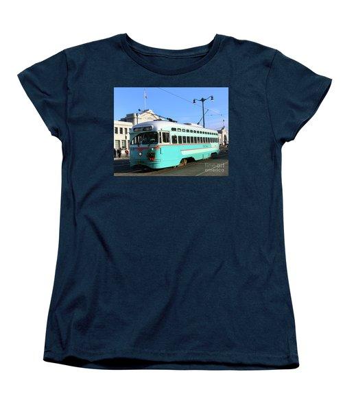 Women's T-Shirt (Standard Cut) featuring the photograph Trolley Number 1076 by Steven Spak