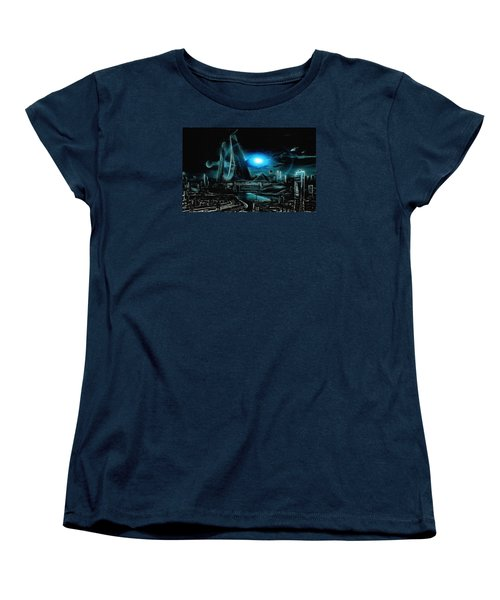 Tron Revisited Women's T-Shirt (Standard Cut) by Mario Carini