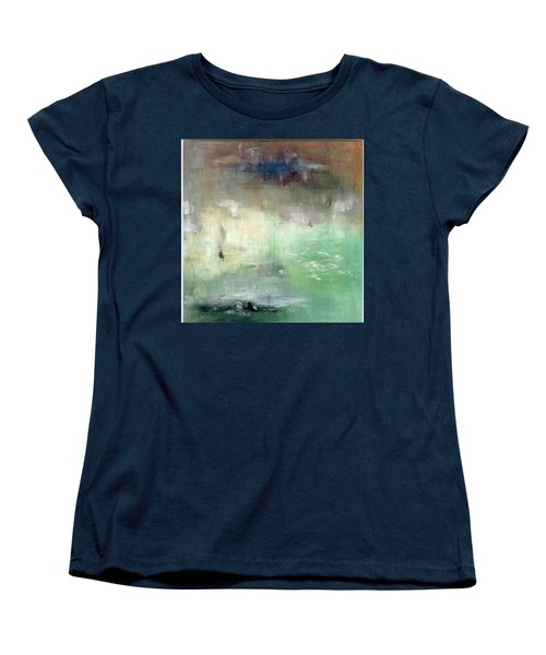 Women's T-Shirt (Standard Cut) featuring the painting Tropic Waters by Michal Mitak Mahgerefteh