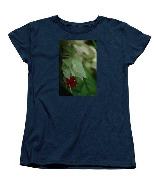Women's T-Shirt (Standard Cut) featuring the photograph Tropical Bleeding Heart by Ramona Whiteaker