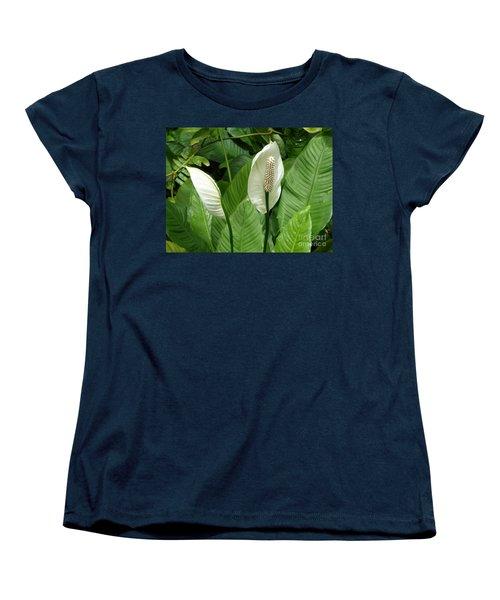 Tropical Flower Women's T-Shirt (Standard Cut) by Margaret Brooks