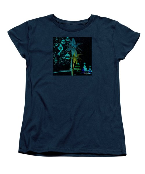 Women's T-Shirt (Standard Cut) featuring the digital art Tropical Holiday Blue by Megan Dirsa-DuBois