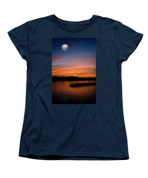 Women's T-Shirt (Standard Cut) featuring the photograph Tropical Moon by Laura Fasulo