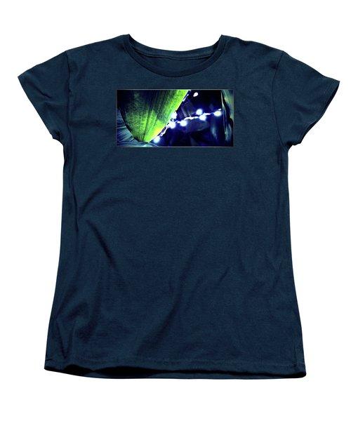 Women's T-Shirt (Standard Cut) featuring the digital art Tropical Night by Mindy Newman