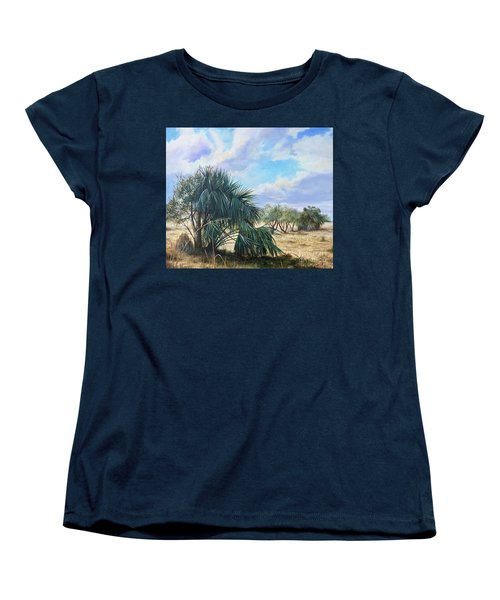 Tropical Orange Grove Women's T-Shirt (Standard Cut) by AnnaJo Vahle