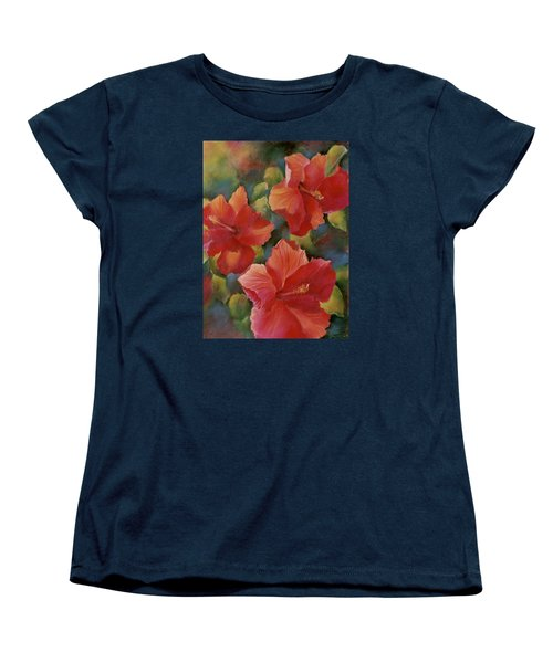 Women's T-Shirt (Standard Cut) featuring the painting Tropical Punch by Ann Peck