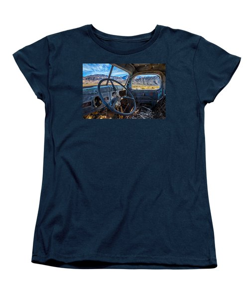 Truck Desert View Women's T-Shirt (Standard Cut) by Peter Tellone