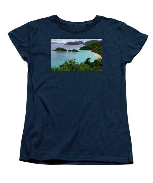 Trunk Bay At U.s. Virgin Islands National Park Women's T-Shirt (Standard Cut) by Jetson Nguyen