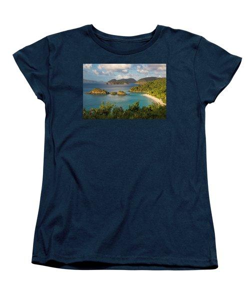 Women's T-Shirt (Standard Cut) featuring the photograph Trunk Bay Morning by Adam Romanowicz