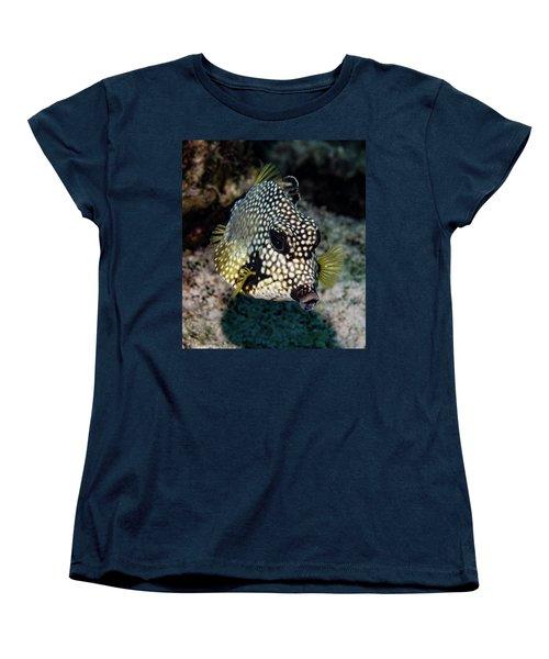Women's T-Shirt (Standard Cut) featuring the photograph Trunkfish Portrait by Jean Noren