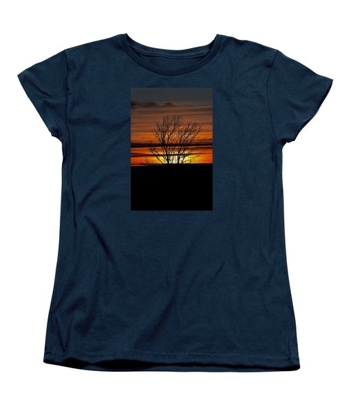 Women's T-Shirt (Standard Cut) featuring the photograph Tuesday Afternoon Sunset by Dacia Doroff