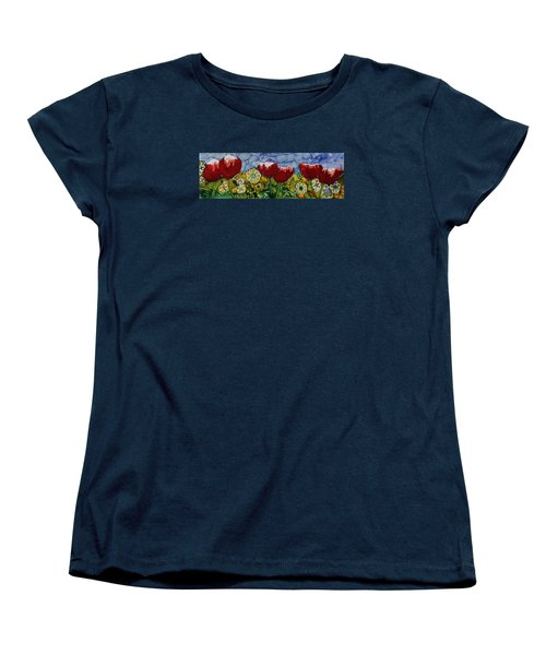 Tulip Bonanza Women's T-Shirt (Standard Cut) by Suzanne Canner