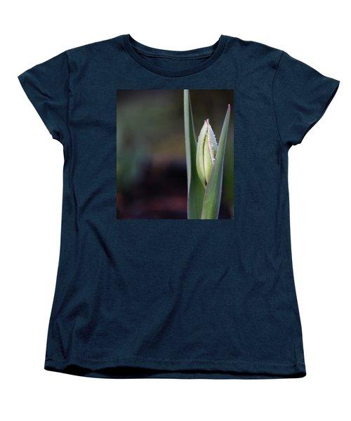 Tulip Bud Women's T-Shirt (Standard Cut) by Katie Wing Vigil